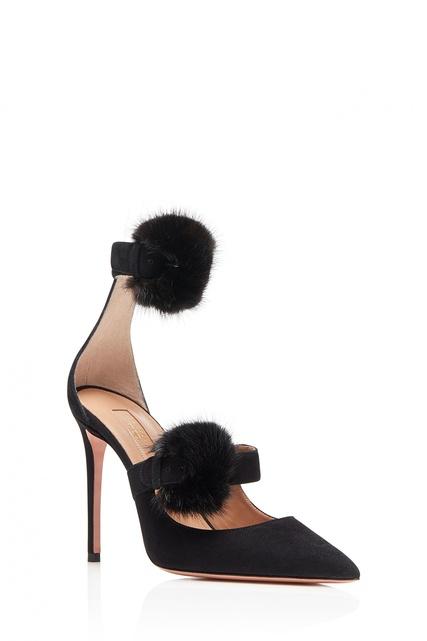 Туфли с меховой отделкой