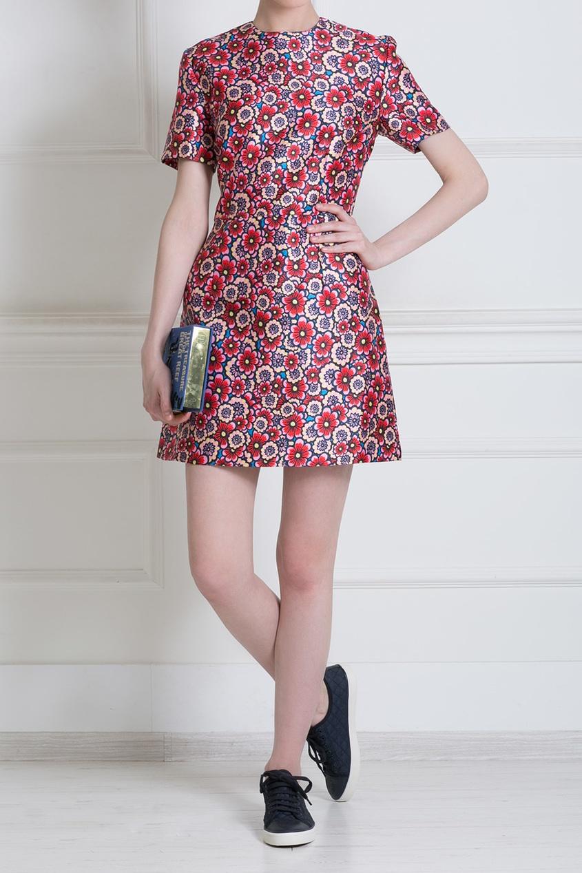 Летнее платье с цветочным принтом 2017-2018