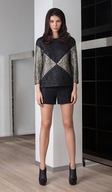 Фото 7 - Прямая блузка от Chapurin серого цвета