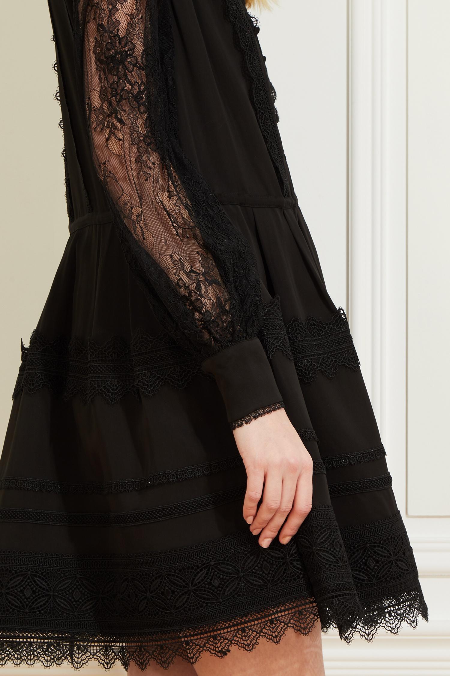 черное платье хлопок кружево