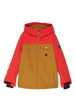 Быстрый просмотр. Quiksilver Kids. Утепленная красно-горчичная куртка  Mission ae93f3bd4ca