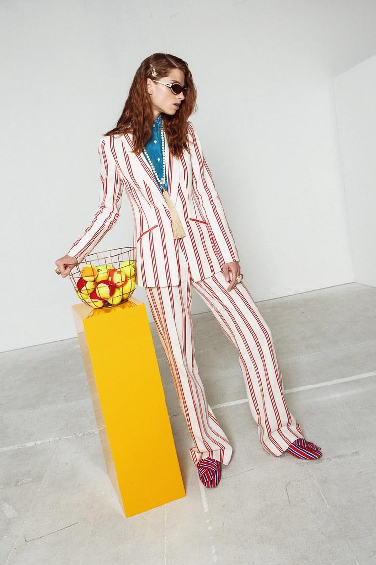 Купить Хлопковые брюки, Stella Jean, Италия, Multicolor, 50% хлопок, 50% лён