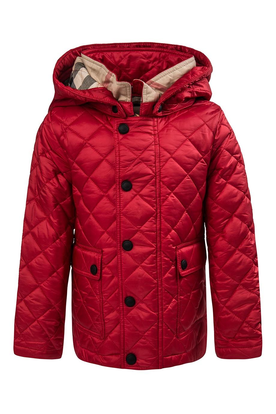 Стеганая куртка Burberry Kids - Яркая стеганая куртка из детской ... 7f1fe70efbd