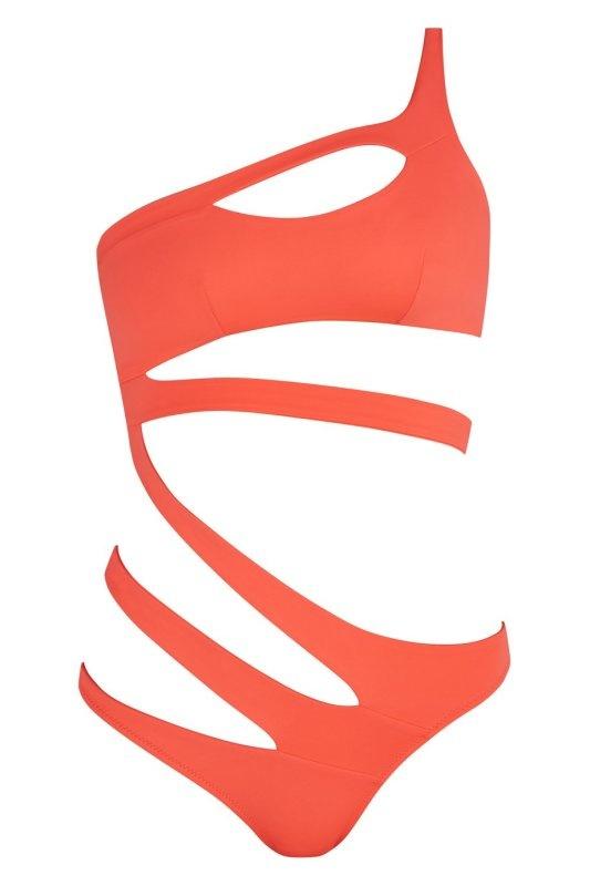 Купальник LexxiСлитные купальники<br>Загорайте у бассейна в ассиметричном бандажном&amp;nbsp;купальнике Lexxi, появившемся в&amp;nbsp;новом сезоне в ярком коралловом цвете.<br><br>Сексуальные ленты обхватывают тело,&amp;nbsp;прорисовывая соблазнительный узор на коже. Лямка на одно плечо и манящий вырез в&amp;nbsp;области декольте сделают Lexxi Вашем любимым купальником.<br><br>Возраст: Взрослый<br>Размер: L (4 AP)<br>Цвет: Оранжевый