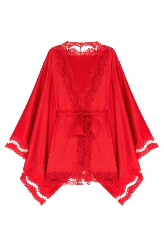Кимоно LunaЯркое белье<br>Шелковое кимоно Luna идеально подходит для роскошного вальяжного отдыха. Этот изысканный сексуальный образ дополнен окантовкой из полупрозрачного французского кружева по краю.<br><br>Возраст: Взрослый<br>Размер unitSize=: S/M<br>Цвет: красный<br>Пол: Женское