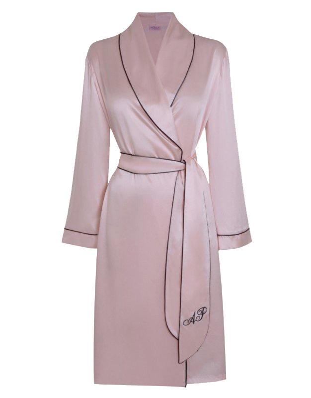 Халат атласный розовый Classic Dressing Gown