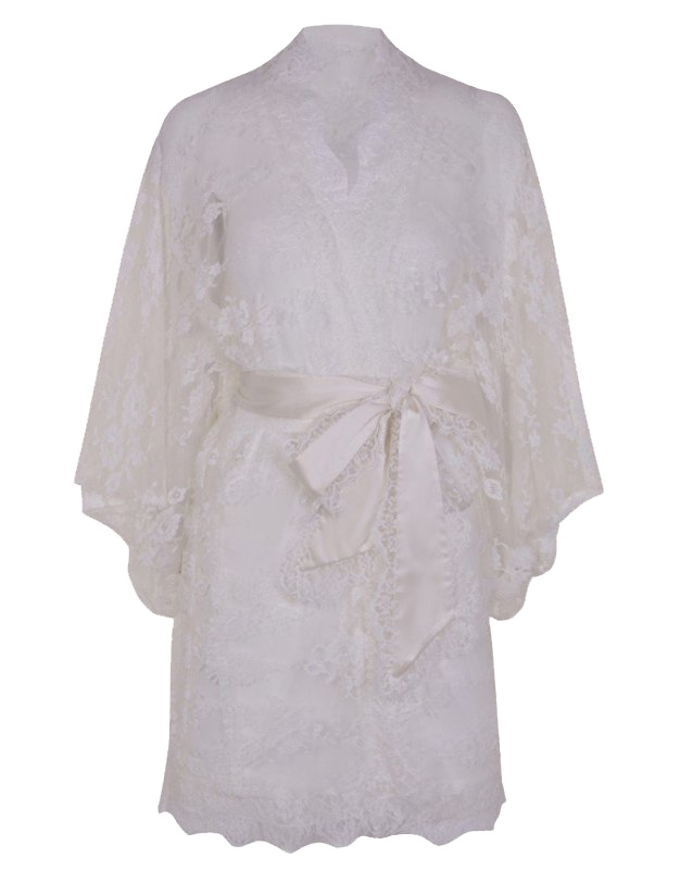 Кимоно MatineeХалаты и кимоно<br>Изумительное прозрачное кимоно из французского кружева с роскошным цветочным узором. В комплекте с сатиновым поясом, окаймленным кружевом, выглядит особо привлекательно. Представлено в черном и белом цвете.<br><br>Возраст: Взрослый<br>Размер unitSize=: UN<br>Цвет: белый<br>Пол: Женское