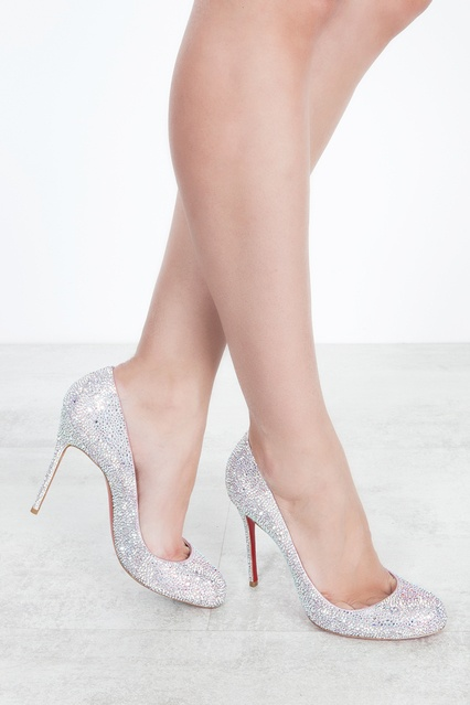 47ce6086d89d ... Туфли со стразами Fifi Strass 100 Christian Louboutin - Christian  Louboutin, Обувь, Обувь Christian ...
