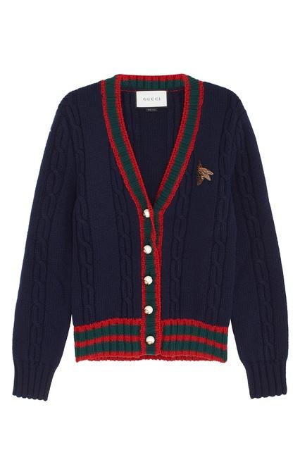 Шерстяной кардиган Gucci - Gucci, Одежда, Одежда Gucci, вид 1 ... bab3ac38144