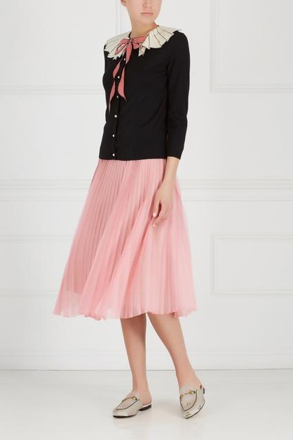 Шерстяной кардиган Gucci - Кардиган из коллекции итальянского бренда ... 7ef875e9783