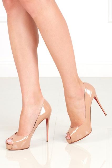 4db2a7dc4ebe ... Бежевые лакированные туфли New Very Prive 120 Christian Louboutin -  Christian Louboutin, Обувь, Обувь ...