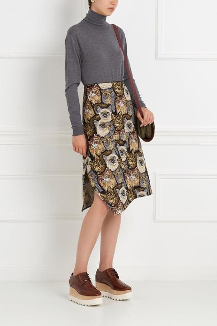 449dab2871d Хлопковая юбка Stella McCartney – купить в интернет-магазине в Москве