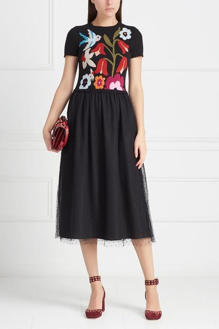 fd9441ec277 Платье с вышивкой Red Valentino – купить в интернет-магазине в Москве