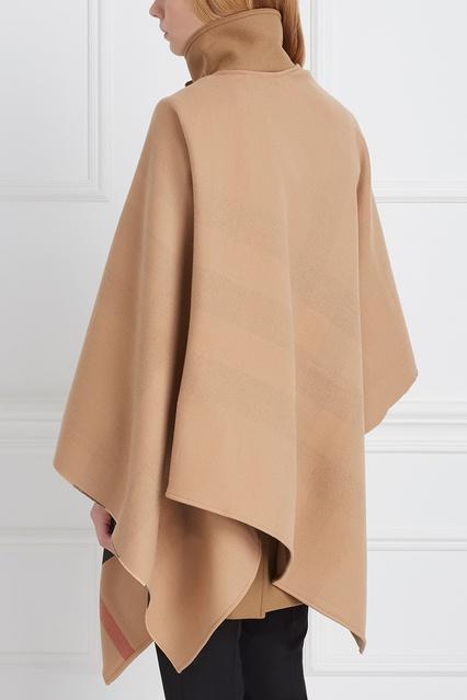5d10ef49a638 ... Шерстяной кейп Burberry - Burberry, Одежда, Одежда Burberry, вид 4 ...