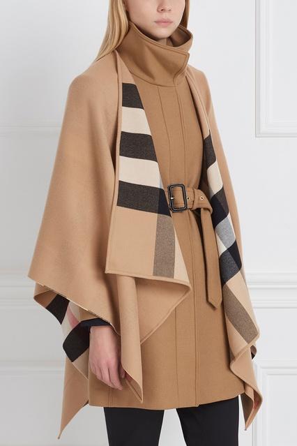 0e13933c665c ... Шерстяной кейп Burberry - Burberry, Одежда, Одежда Burberry, вид 3 ...