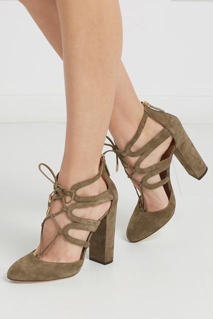 ... Замшевые туфли Holli Aquazzura - Aquazzura, Обувь, Обувь Aquazzura, вид  2 ... 2f00a46896e