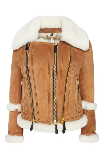f9136a72cda8 Дубленка Burberry - Коричневая куртка-дубленка из овчины Burberry ...
