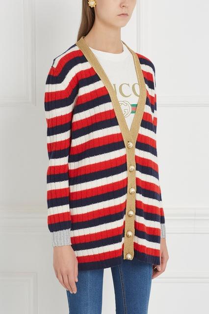 ... Кардиган из кашемира и шерсти Gucci - Gucci, Одежда, Одежда Gucci, вид  4 ... 19fb9f37aa6