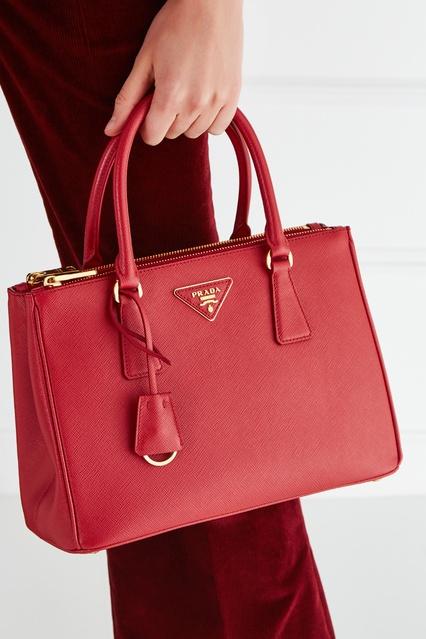 d325ca9672c7 ... Кожаная сумка Galleria Prada - Prada, Женское, Женское Prada, вид 3 ...