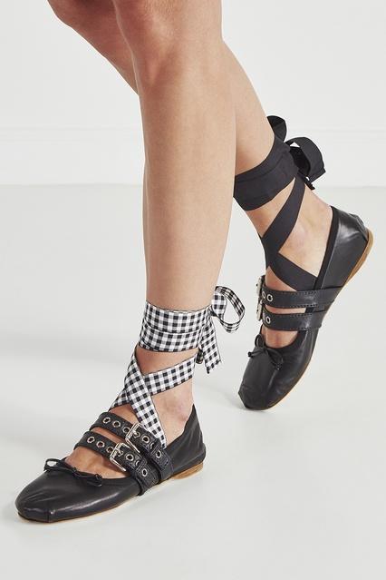 ... Кожаные балетки Miu Miu - Miu Miu, Обувь, Обувь Miu Miu, вид 3 ... 2a86743ad46