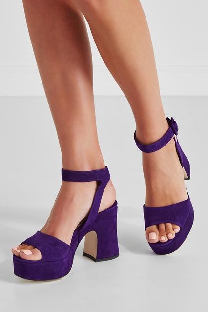 ... Замшевые босоножки Miu Miu - Miu Miu, Обувь, Обувь Miu Miu, вид 3 ... c4f7fad0404