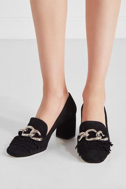Замшевые туфли Miu Miu - Черные замшевые туфли из коллекции бренда ... 63f2a720f23