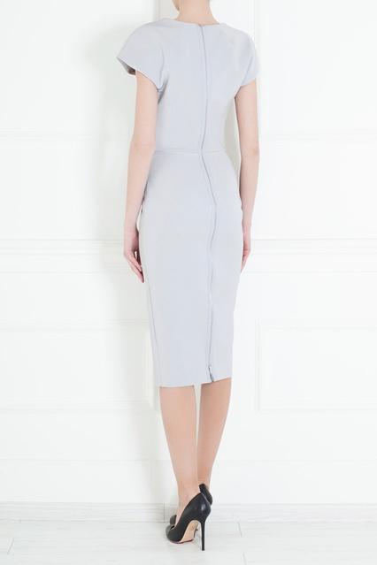70f6cadd862 Платье-футляр из хлопка и шелка Victoria Beckham – купить в интернет ...