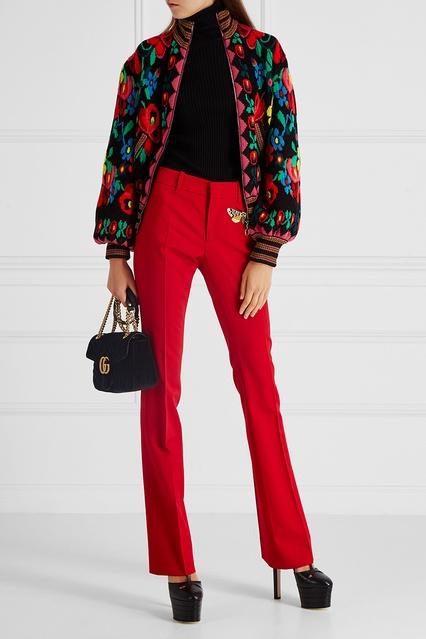 Шерстяной бомбер Gucci - Кардиган из коллекции FW 17 18 бренда Gucci ... b6faba3ef9a