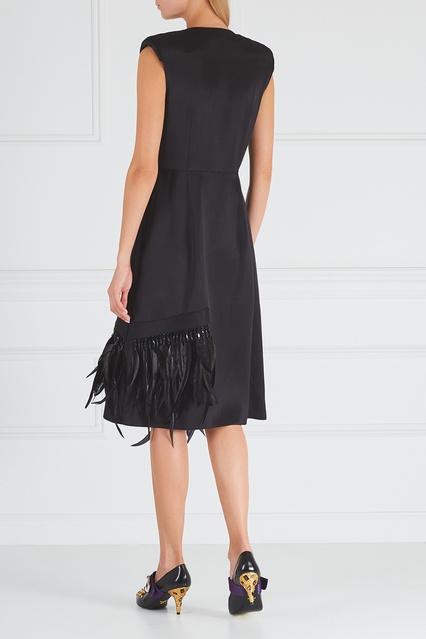 ... Атласное платье с перьями Prada - Prada, Одежда, Одежда Prada, вид 4 ... 761a5d6ab44