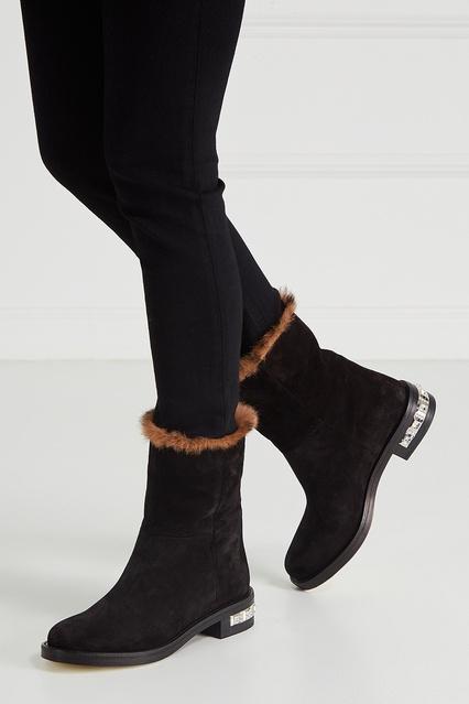 ... Замшевые полусапоги Miu Miu - Miu Miu, Обувь, Обувь Miu Miu, вид 3 ... 33073a96b4d