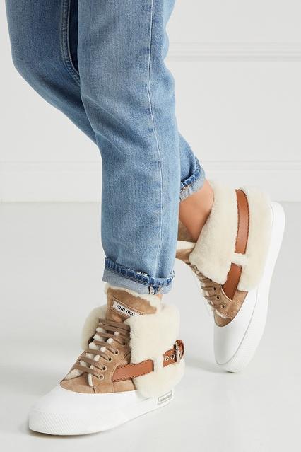 ... Замшевые ботинки с мехом Miu Miu - Miu Miu, Обувь, Обувь Miu Miu, ... 659720e34ab