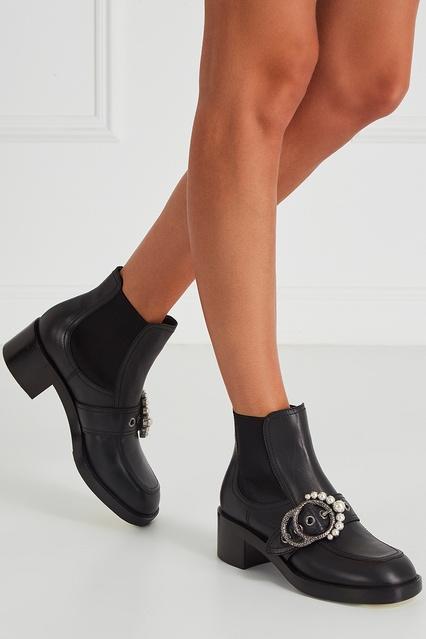 ... Кожаные ботильоны с пряжкой Miu Miu - Miu Miu, Обувь, Обувь Miu Miu, ... 57454f95f53
