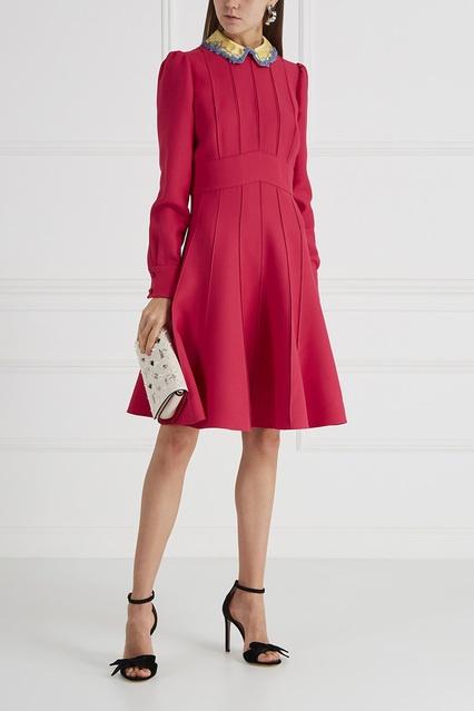 ae07fe5de11 Платье из шерсти и шелка Valentino – купить в интернет-магазине в Москве