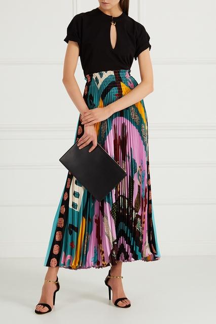 776c3e0425a Плиссированная юбка с принтом Valentino – купить в интернет-магазине ...