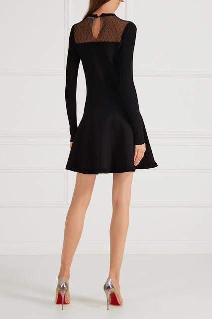 cd838d280f7 Трикотажное платье с сеткой Red Valentino – купить в интернет ...