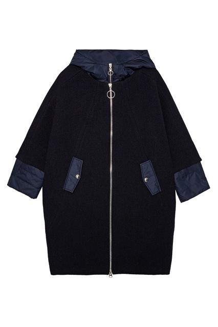 0b5daab9b10 Синее пальто-кокон MILAMARSEL – купить в интернет-магазине в Москве