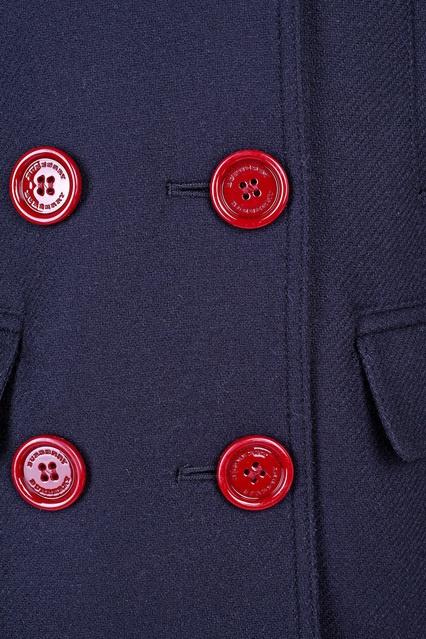 ... Двубортное пальто Burberry Kids - Burberry Kids, Детское, Детское Burberry  Kids, вид 3 bbd75288617