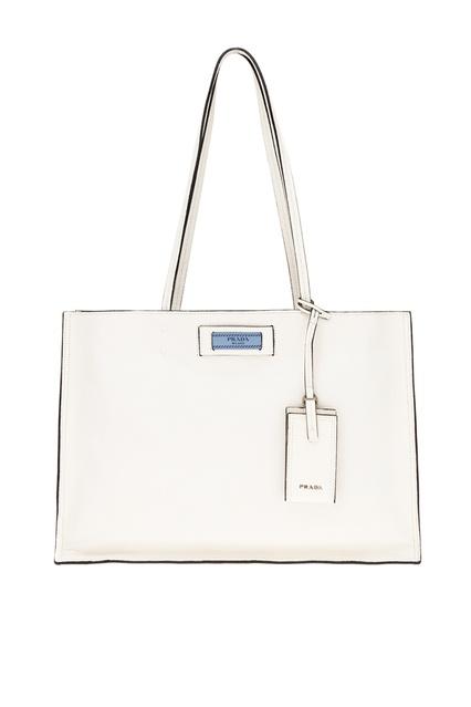 1f2a230b8c78 Белая кожаная сумка Etiquette Prada - Prada, Женское, Женское Prada, вид 1  ...