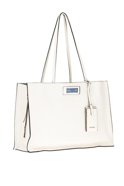 b5ddce9808ad ... Белая кожаная сумка Etiquette Prada - Prada, Женское, Женское Prada,  вид 4 ...