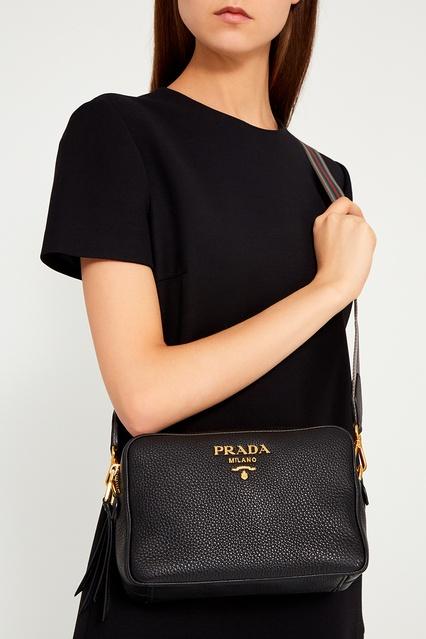 2718839532eb ... Черная кожаная сумка Prada - Prada, Женское, Женское Prada, вид 3 ...