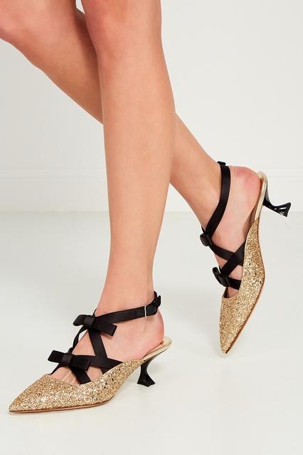 ... Золотистые туфли с глиттером Miu Miu - Miu Miu, Обувь, Обувь Miu Miu,  ... 38cacd72f05