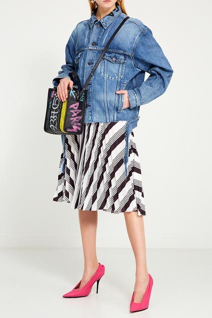 1d4d5eabb28c Плиссированная юбка с принтом Balenciaga