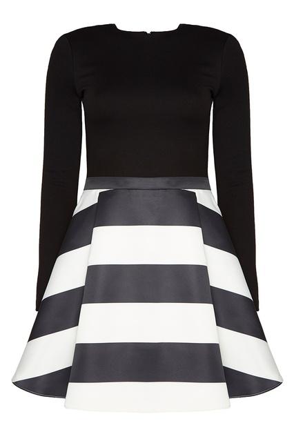 1b8c581701b Черно-белое платье Alice + Olivia – купить в интернет-магазине в Москве