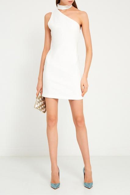 9c1f6c0f4f5 ... Белое платье-мини с открытым плечом Alice + Olivia - Alice + Olivia