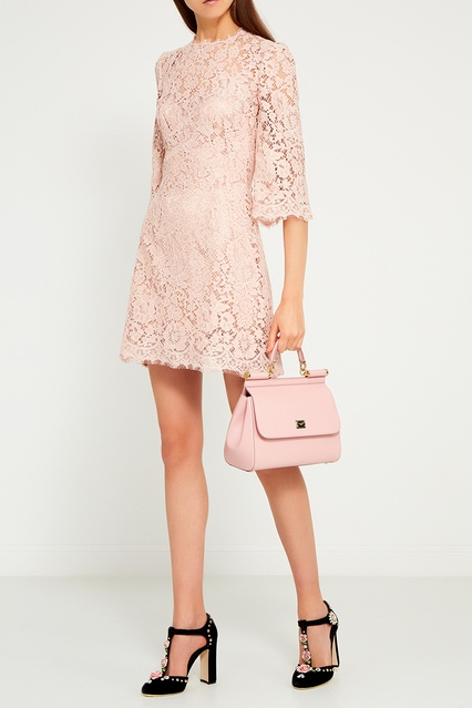 83a76808a4b Розовое кружевное платье Dolce Gabbana – купить в интернет-магазине ...