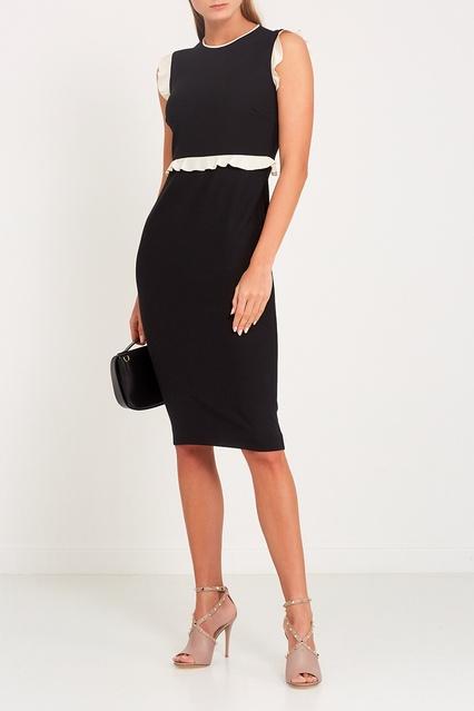 dd8995c6923 Платье с контрастными оборками Red Valentino – купить в интернет ...