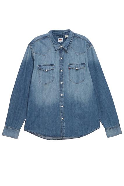 f25cec7e3568a Голубая джинсовая рубашка Levi's® - Levi's®, Мужское, Мужское Levi's®, вид  ...
