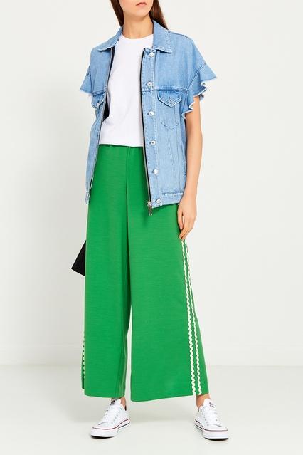 f0735cc42459 Широкие зеленые брюки Vivetta