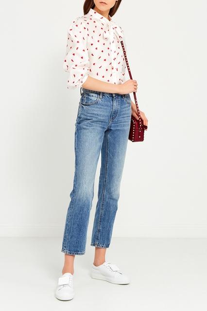 f2031066f65 Шелковая блузка с принтом Vivetta – купить в интернет-магазине в Москве