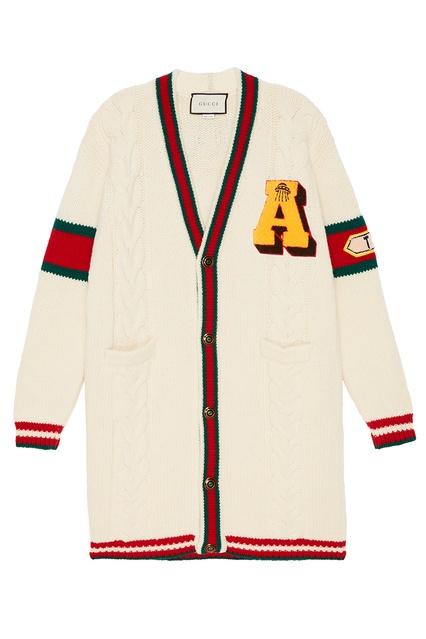 Шерстяной вязаный кардиган с косами Gucci - Gucci, Одежда, Одежда Gucci,  вид 1 ... 8b6f8cddec9
